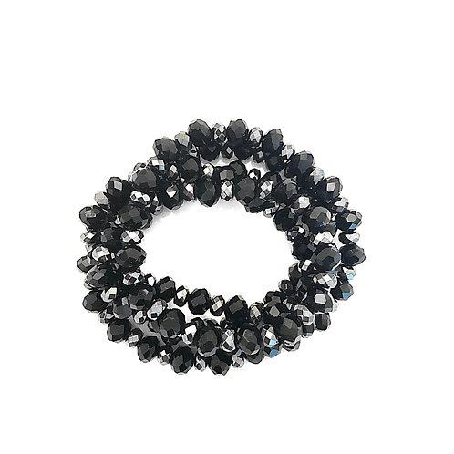 Black Crystal & Hematite Wrap