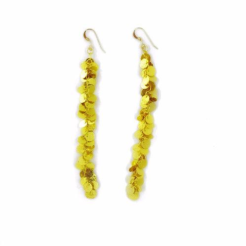 14 karat cluster disc earrings