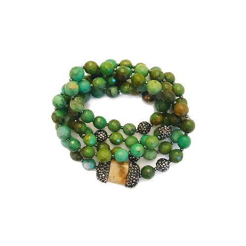 Emerald Green Turquoise Wrap
