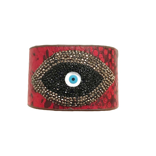 Red Evil Eye Cuff