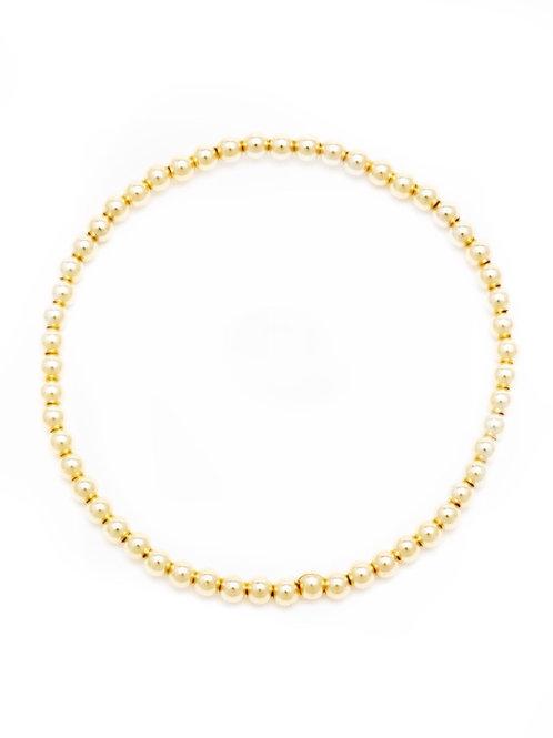 3mm 14kt Gold Filled Ball Bracelet