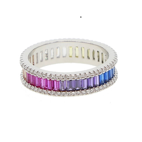 Rainbow baguette Ring