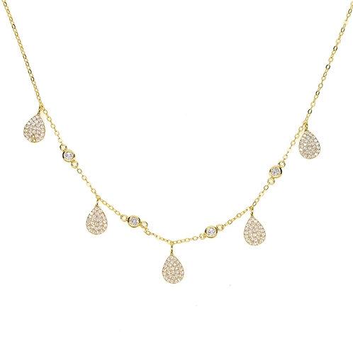 Pave drops and diamonds