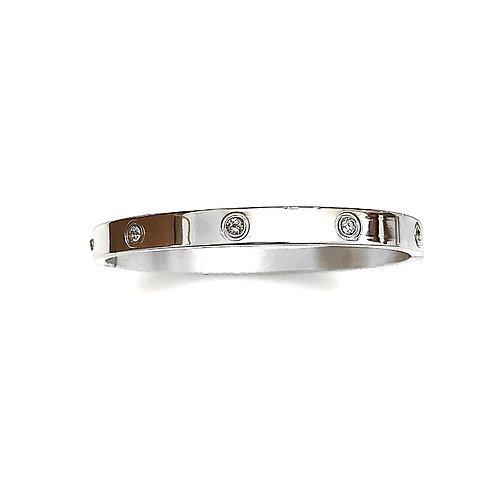 Silver Diamond Cuff