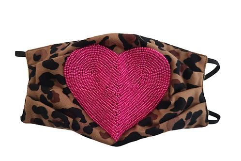 Leopard Heart Mask