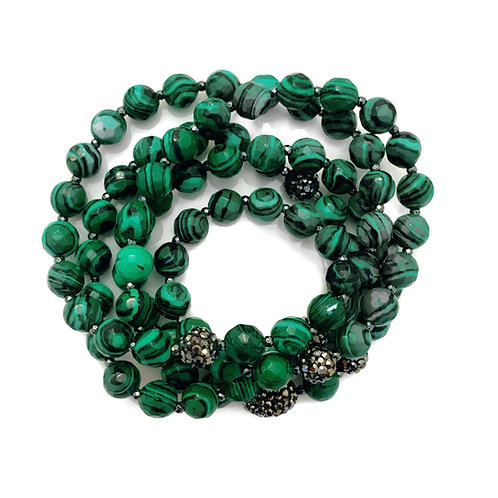 Faceted Malachite Wrap