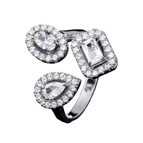 Adjustable Triple Halo Ring