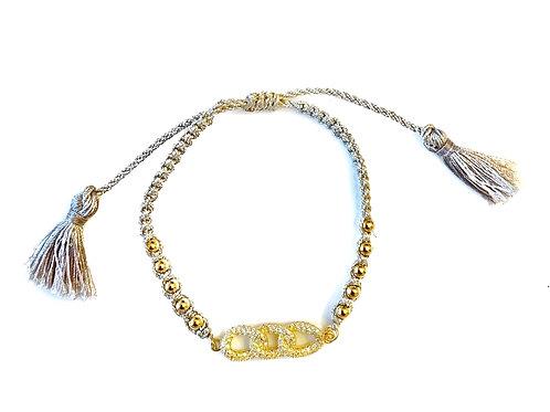 Gold Link Tassel Bracelet