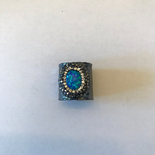 Blue Opal Gunmetal