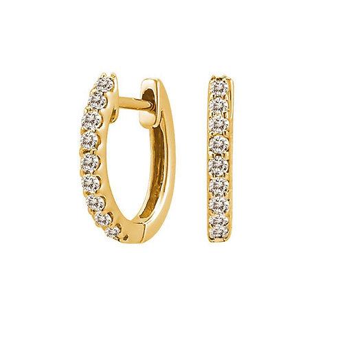 Gold Huggie Earrings