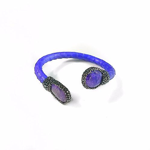 Adjustable Thin Purple Python Cuff