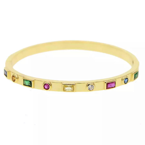 Rainbow CZ Bangle