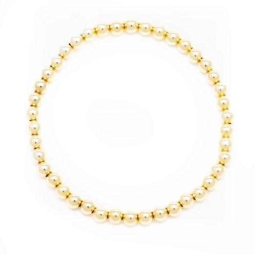 4mm 14k Gold Filled Ball Bracelet