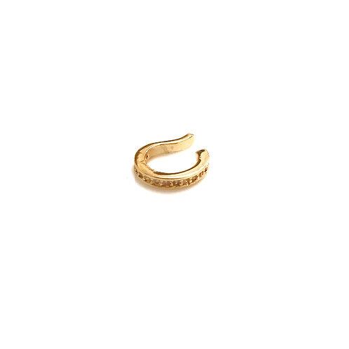 Single Gold CZ Ear Cuff