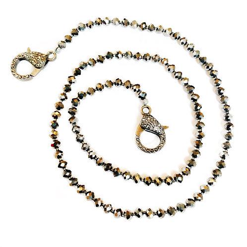 Dark Silver Mask Necklace