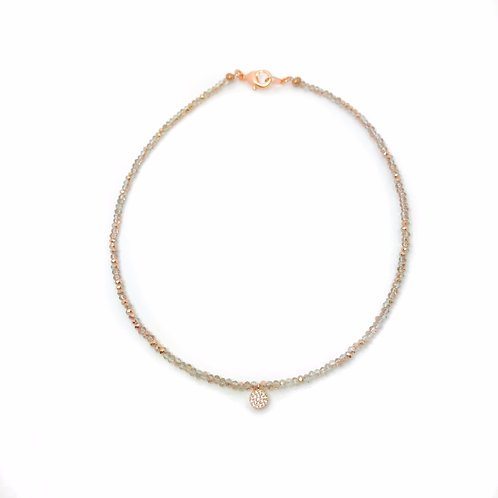 Rose Gold Crystal Choker