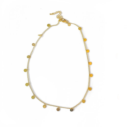 Delicate Gold Disc Necklace