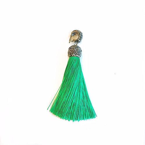 Interchangeable Green Tassel Pendant