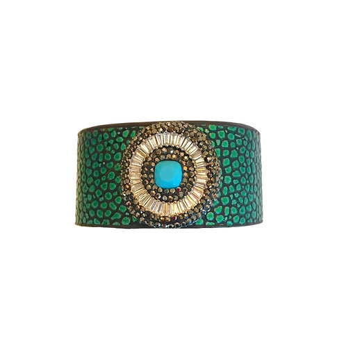 Metallic Green Cuff
