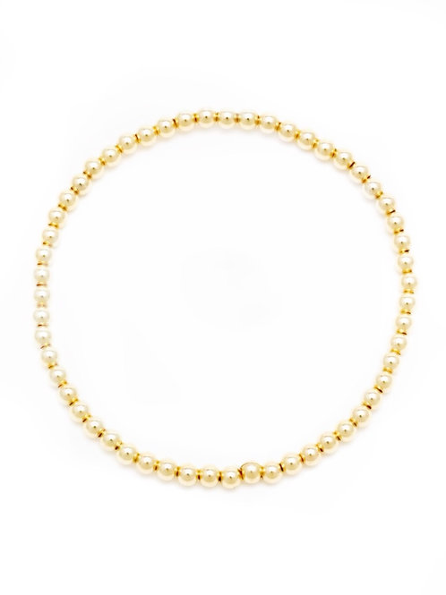 2mm 14K Gold Filled Ball Bracelet