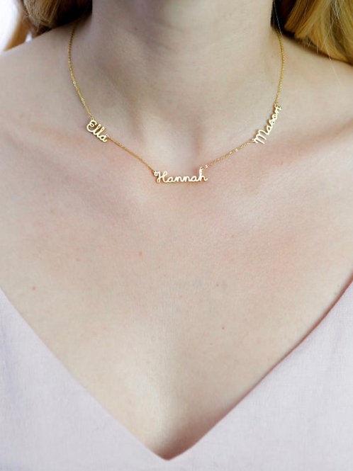 Delicate Multiple Name Necklace