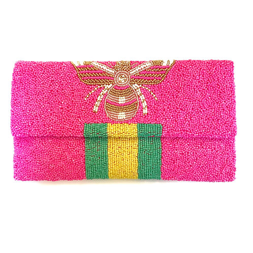 Pink Gucci Inspired Bee Clutch