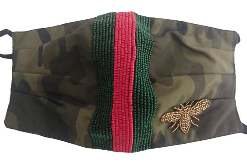 Green Camo Gucci Inspired Mask