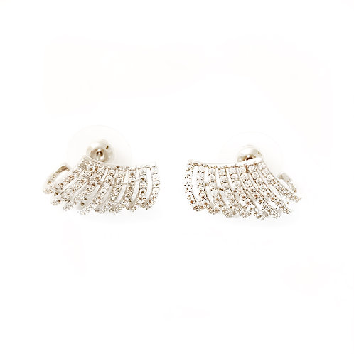 The Platinum Blinged Out Earrings