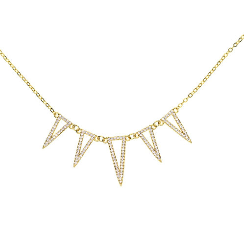 Iced Out Triangle Necklace