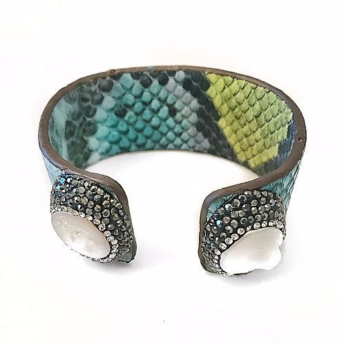 Adjustable Multicolor Python Cuff
