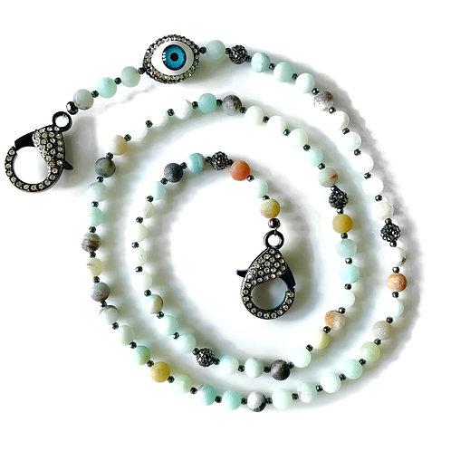 Amazonite Mask Necklace