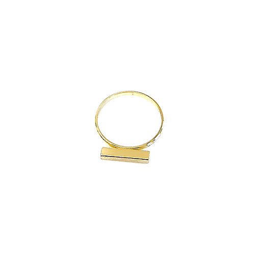 Brushed Gold Bar Ring