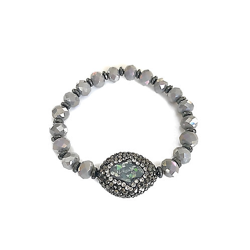 Grey Hamsa Bracelet