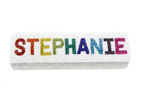 Personalized Rainbow Beaded Clutch