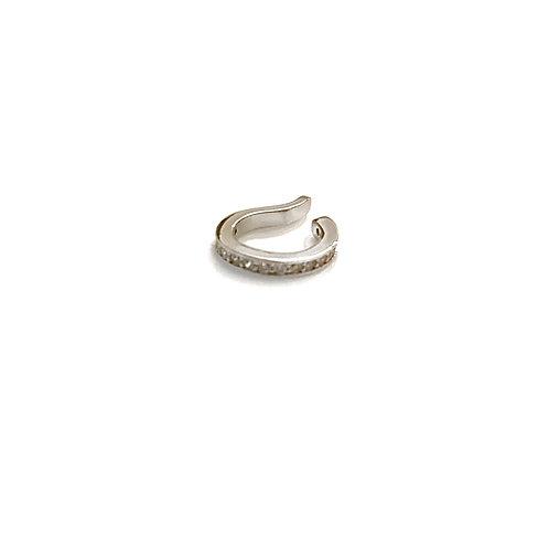 Single Silver CZ Ear Cuff