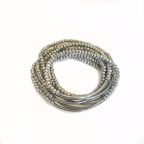 Silver & Gunmetal Bar Wrap