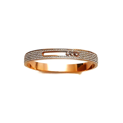 Rose Gold Sliding Diamond Cuff