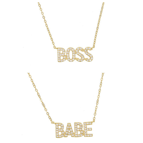 Boss/Babe Necklace