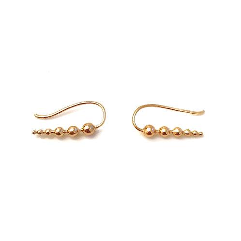 Gold Ball Ear Crawlers