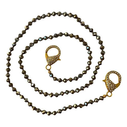 Olive Green Mask Necklace