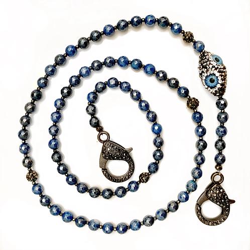 Mystic Blue Mask Necklace