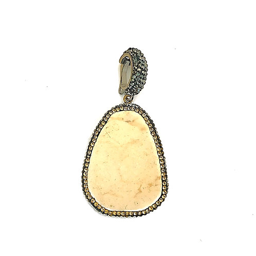 Interchangeable Cream Buffalo Turquoise Pendant