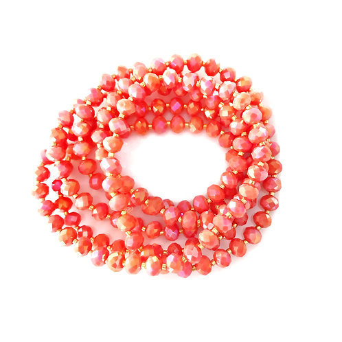 Shimmer Coral Crystal Wrap