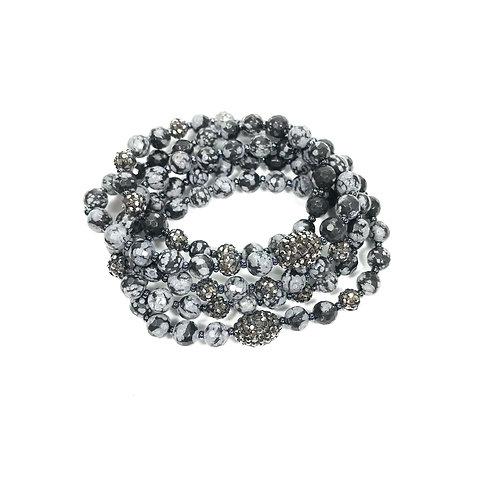 Snowflake Obsidian Wrap