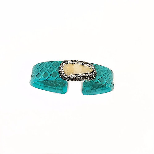 Turquoise Python Cuff