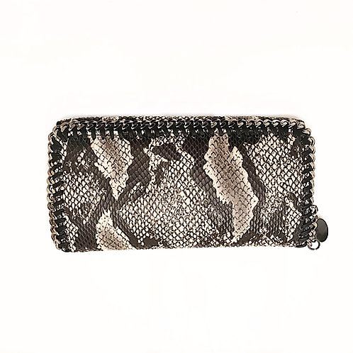 Black & White Python Chain Wallet