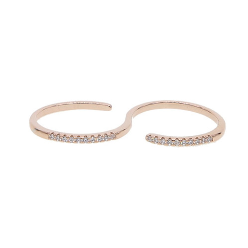 Double Rose Gold Ring