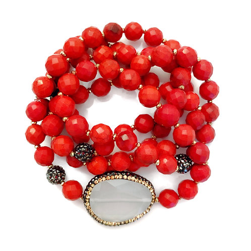 Faceted Red Wrap