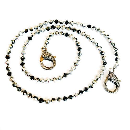Black & Silver Mask Necklace