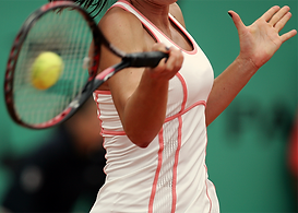 Photo image of tennis player for tennis elbow